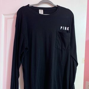 PINK Victoria's Secret Black tee. Size Large